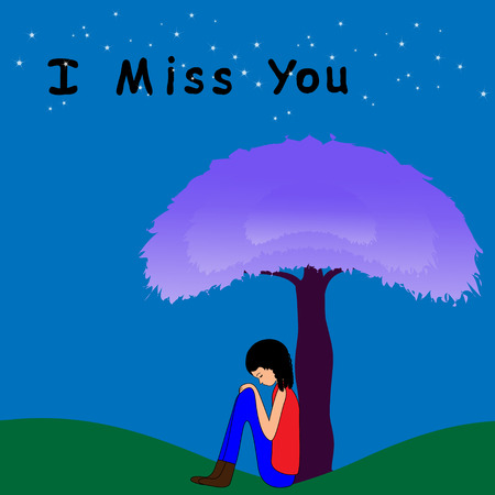 I miss you Illustration