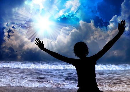Woman worship and praise