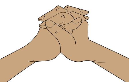 praise and worship: Praying hands