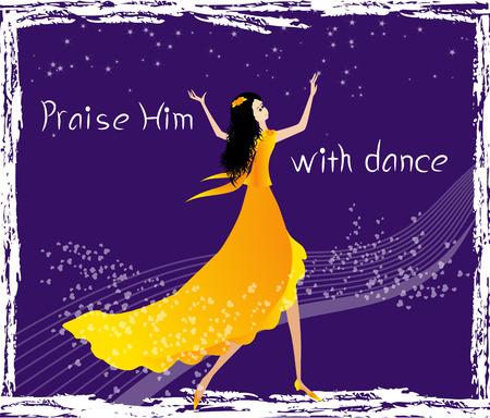 alabando a dios: Alabadle con la danza Vectores