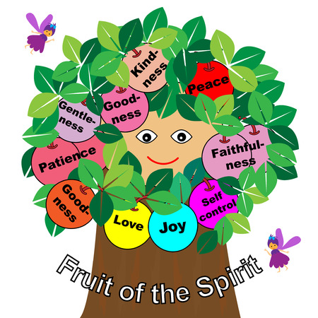colorful tree: Fruits of the Spirit