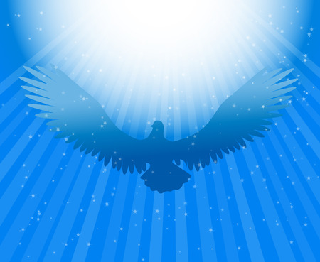 baptism background: Holy Spirit dove