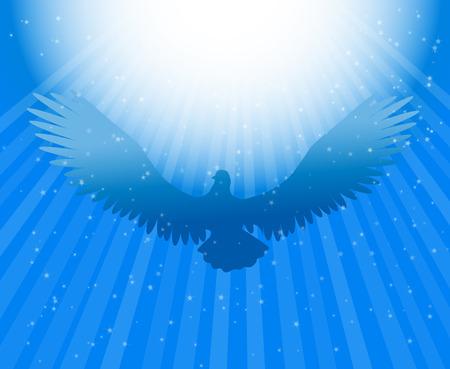 raggi di luce: Santo spirito colomba Vettoriali