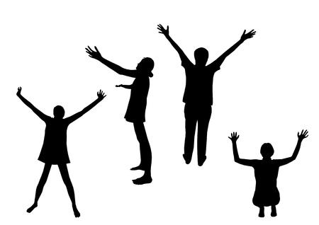 praise god: Praise silhouettes Illustration