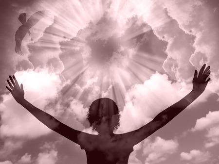 worship hands: Praise Silhouette