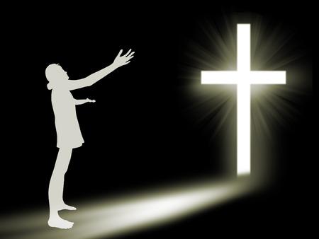 Woman  worship to God photo