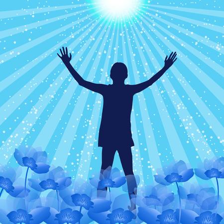 alabando a dios: Silueta Alabanza