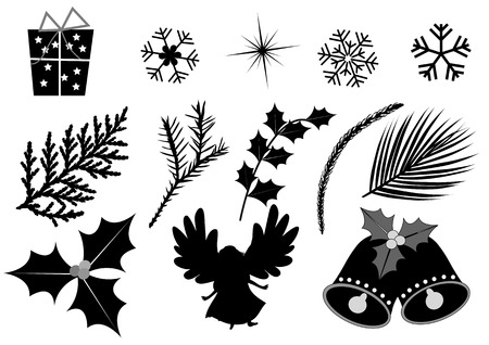 christmas angel: Vector illustration of a christmas Collection isolated on white Illustration