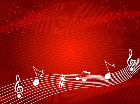bordes decorativos: Notas de la música de fondo