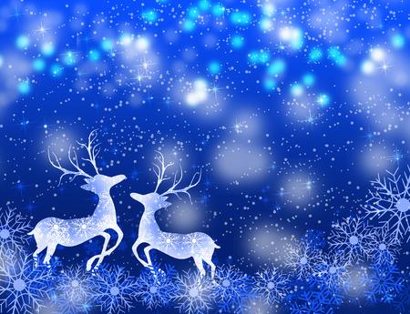 Christmas deer photo