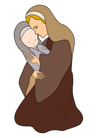 baby jesus: Mary and Baby Jesus
