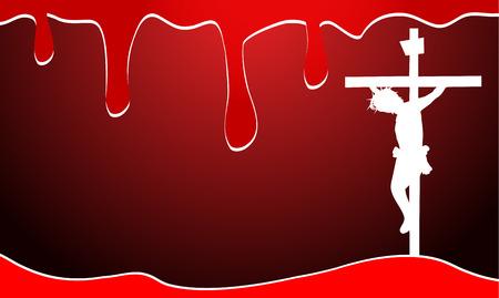 Jezus Christus met bloed achtergrond-Het bloed van Jezus