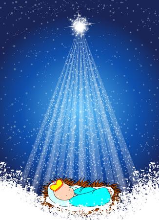 messiah: Bambino Ges� nella mangiatoia con le stelle