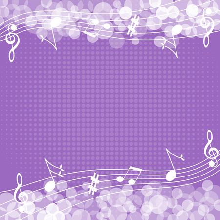 Music notes background-Vector illustration  イラスト・ベクター素材