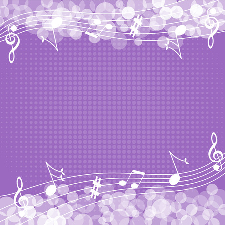 Music notes background-Vector illustration Vettoriali