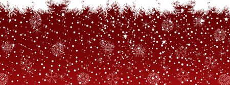 Red Christmas background-Timeline Cover Illustration