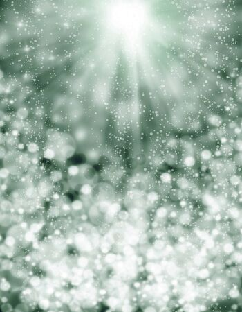 Christmas Background-Abstract light background with circles and stars 写真素材