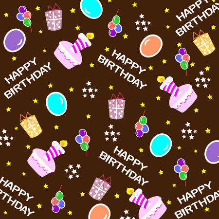 surprise party: Happy birthday seamless background pattern
