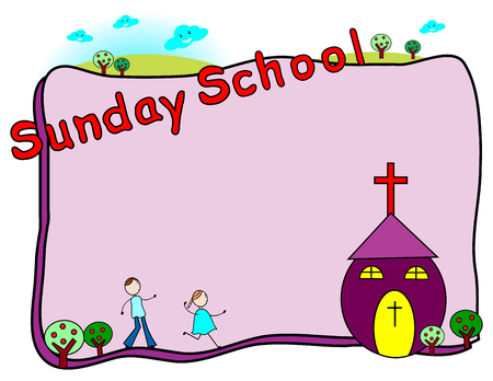 sunday school: Sunday school frame with space for your text
