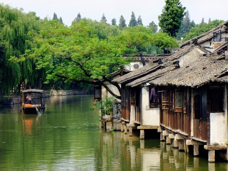 the place of interest: Suzhou s Canal Stock Photo