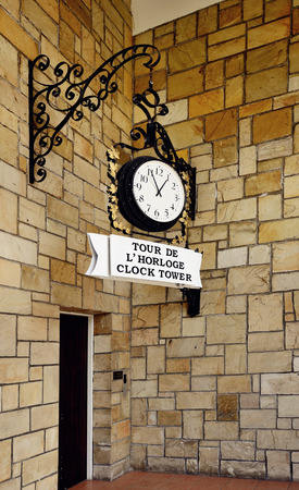Pahang, Malaysia - April 30, 2012   Tour De L Horloge Clock Tower which is located at Colmar Tropical, Bukit Tinggi Resort