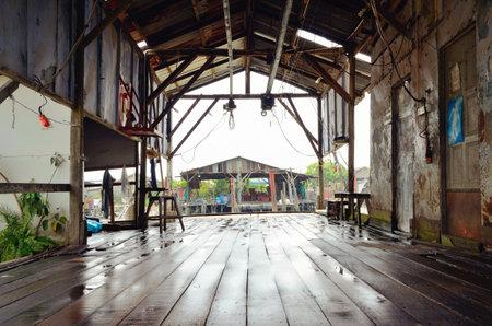 Stilt house in fishing village at Sekinchan Kuala Selangor