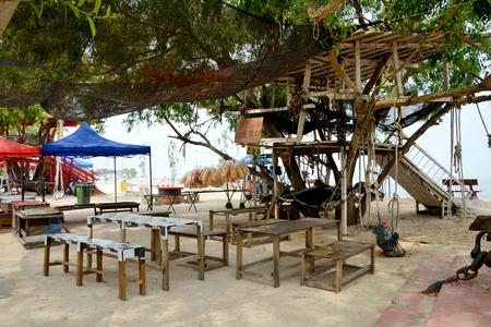 redang: A stall at Redang beach in Sekinchan,Kuala Selangor