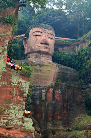 sichuan province: Leshan Giant Buddha is located at Sichuan province in China, it is the largest stone Buddha in the world