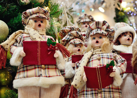 christmas carolers decoration stock photo 24601182
