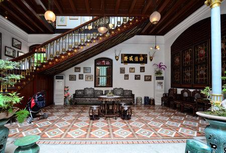 Penang,Malaysia- December 29, 2011  Interior of the Pinang Peranakan Mansion in Georgetown, Penang