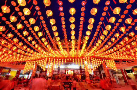 Kuala Lumpur,Malaysia - February 09, 2014   During Chinese New Year,many people come to Thean Hou Temple to pray for a better year head