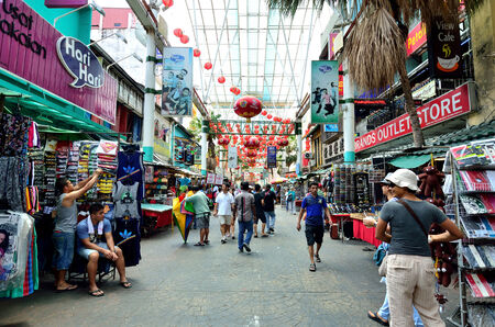 Kuala Lumpur,Malaysia - February 16, 2014   Petaling Street is a china town which is located in Kuala Lumpur,Malaysia It usually crowded with locals as well as tourists  Sajtókép