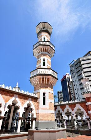 workship: Kuala Lumpur,Malaysia- February 16, 2014  Masjid Jamek mosque which is located at the heart of Kuala Lumpur city  Editorial