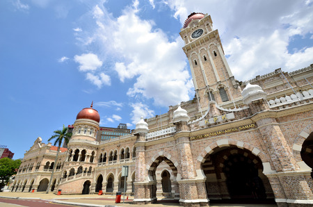 merdeka: Kuala Lumpur, Malaysia - February 16, 2014 - The Sultan Abdul Samad building is located in front of the Merdeka Square in Jalan Raja, Kuala Lumpur Malaysia. Editorial