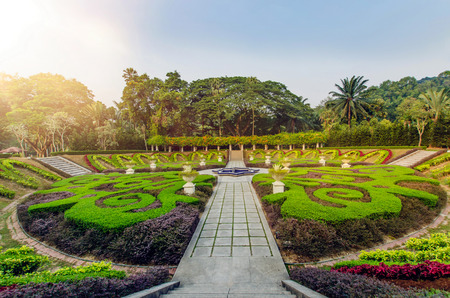 Sunrise in the Kuala Lumpur Lake Garden Reklamní fotografie