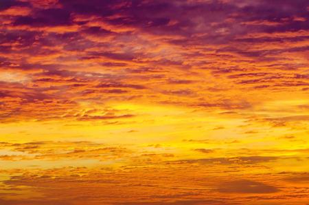Beautiful sunset cloudscape photo