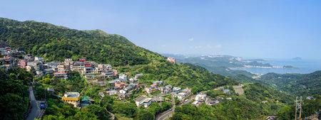 jiufen: Jiufen,Taiwan - March 18,2015 : Panorama of the day scene town scenery in Jiufen,Taiwan.
