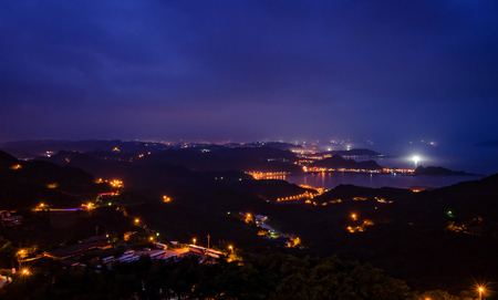 jiufen: Night scene town scenery in Jiufen,Taiwan.