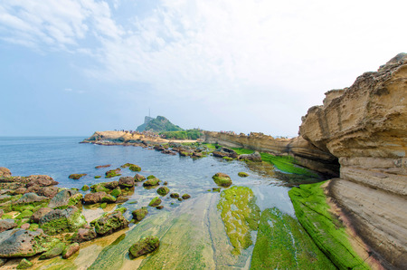Natural landscape in Yehliu Geopark, Taiwan.