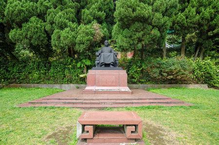 shek: Taipei Taiwan  March 16 2015 : Chiang Kai Shek statue in Yangmingshan National Park Taipei Taiwan Editorial