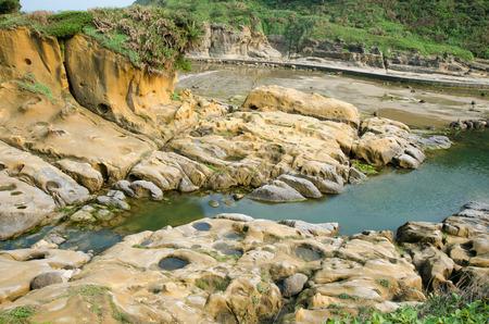 Ho Ping Island Hi Park located in Keelung,Taiwan. It is set up along the coast as a seashore park. Stock fotó