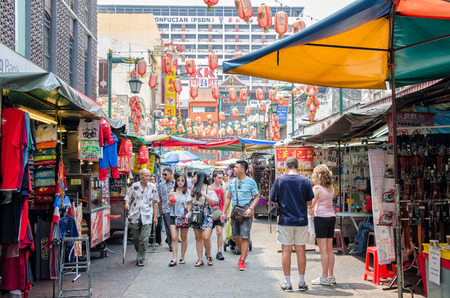 Kuala Lumpur,Malaysia - July 13, 2015 : Petaling Street is a china town which is located in Kuala Lumpur,Malaysia.It usually crowded with locals as well as tourists.