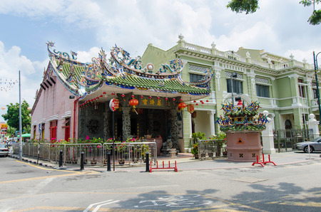 georgetown: Georgetown,Penang - July 17,2015 : Yap Kongsi Temple which is located in Armenian Street, within the George Town Heritage Enclave and the core zone of the George Town UNESCO World Heritage Site.