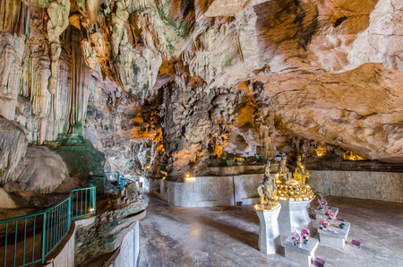 workship: Ipoh,Malaysia - July 16,2015 : Interior of the Kek Lok Tong which is located at Gunung Rapat in the south of Ipoh. Beautiful limestone formations are the main attractions of Kek Lok Tong Cave Temple.