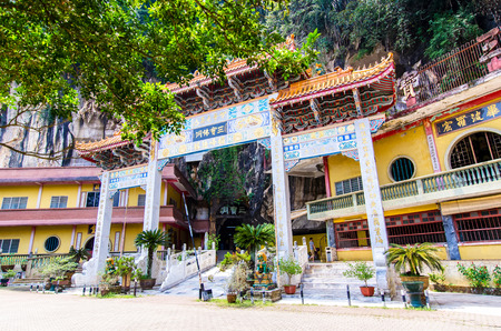 workship: Ipoh,Malaysia - July 16,2015 : Entrance view of the Sam Poh Tong Temple which is located at Gunung Rapat in the south of Ipoh. Editorial