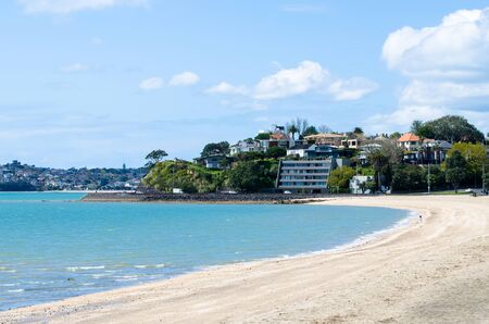 Mission Bay is a beautiful white-sand beach which is located at Auckland,New Zealand