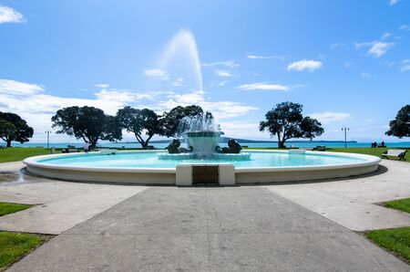 Mission Bay Fountain which is located at Auckland,New Zealand