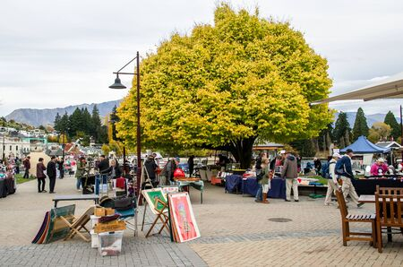 new zealand flax: Queenstown,New Zealand - April 30,2016 : Creative Queenstown Arts and Crafts Markets which is located at the lake front at Earnslaw Park in Queenstown. There are selling wide variety of goods. Editorial