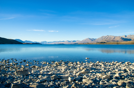 Lake Tekapo in New Zealand Stock fotó