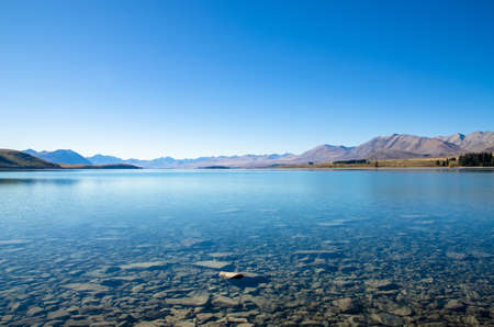 tekapo: Lake Tekapo in New Zealand Stock Photo